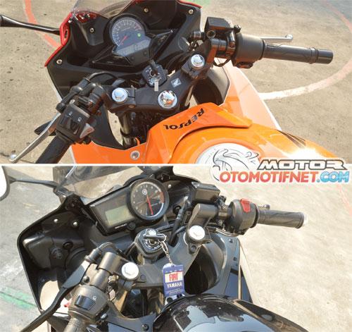 Sumber gambar : http://motor.otomotifnet.com/read/2014/09/25/352909/36/13/Komparasi_Desain_Yamaha_R15_VS_New_CBR150R__Mana_Lebih_Keren_